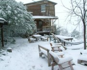 """צימר """"בקתה בערפל"""" בנמרוד – השלג מכין לכם הפתעה…"""