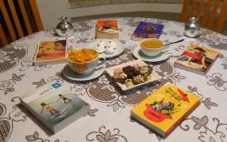 """סעודת סילווסטר """"טעימות מהספרים"""" בגלריה La Brocante du village* בשרון"""