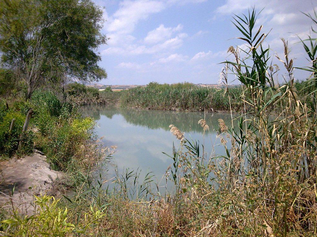 אגם נסתר בשדות, מערבית לכפר רופין.
