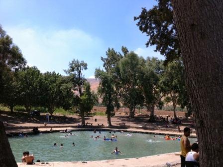 """עין מודע - """"בריכת השחיה"""" של פארק המעיינות"""