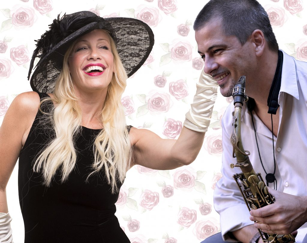 דנה דבורין ולוקה דגוסטינו במופע הג'אז לילדים