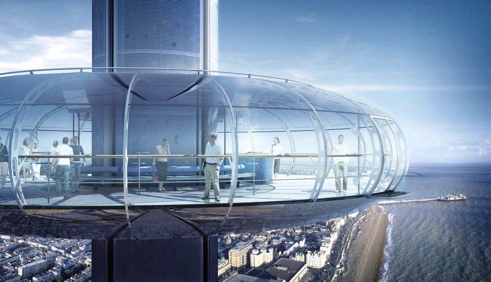 """המגדל החדש בדרום אנגליה - British Airways i360"""" """"Observation"""