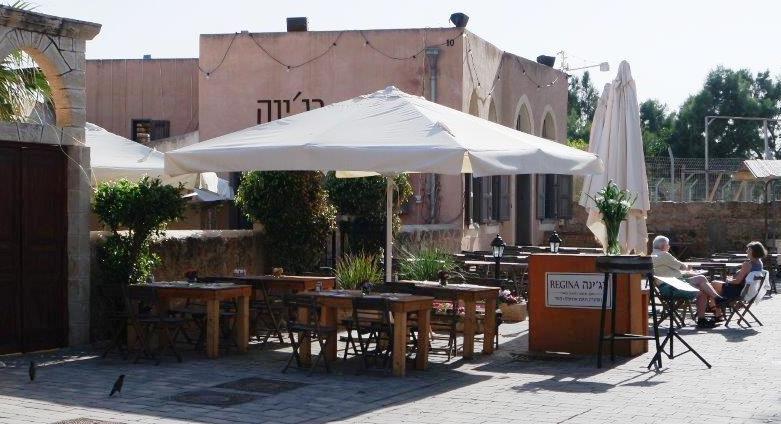 הרבה אופציות של ישיבה: לגמרי בחוץ, בחצר הקדמית, בחדרי המסעדה ובחצר האחורית הגדולה.