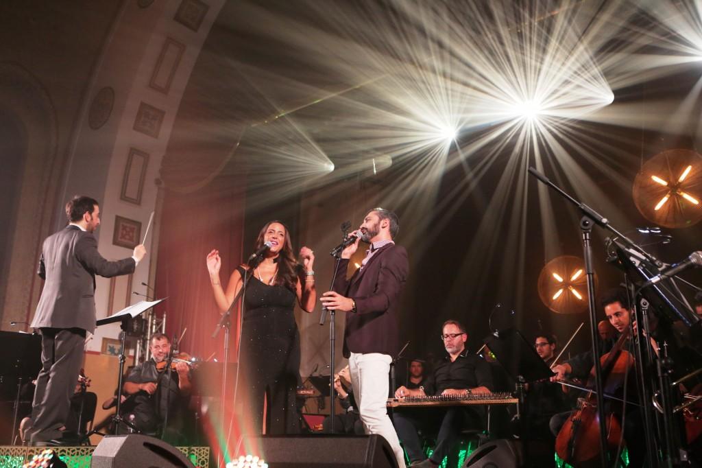 נסרין קדרי עם זיו יחזקאל. בצילום של אורית פניני.